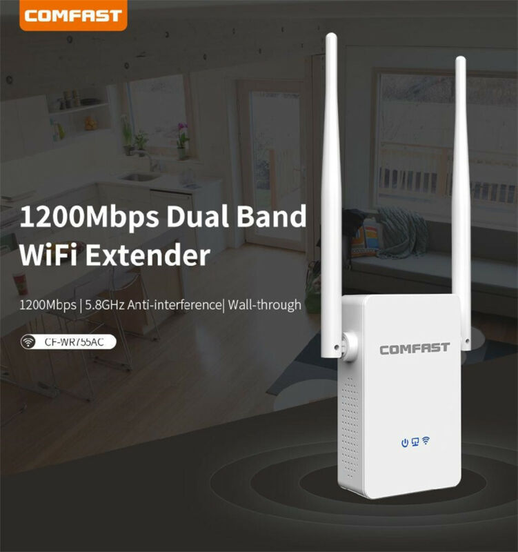 COMFAST Dual Band 1200Mbps WiFi Repeater Wireless Range Exte