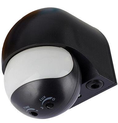 1* Infrarot Bewegungsmelder 180° 12m 1200W Aussen Innen IP44 Schwarz Aufputz /