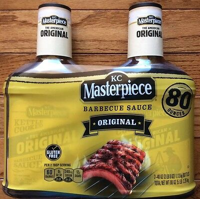Kc Masterpiece Bbq Sauce (2 X KC MASTERPIECE ORIGINAL BBQ SAUCE 80 Ounces - FREE PRIORITY SHIPPING )