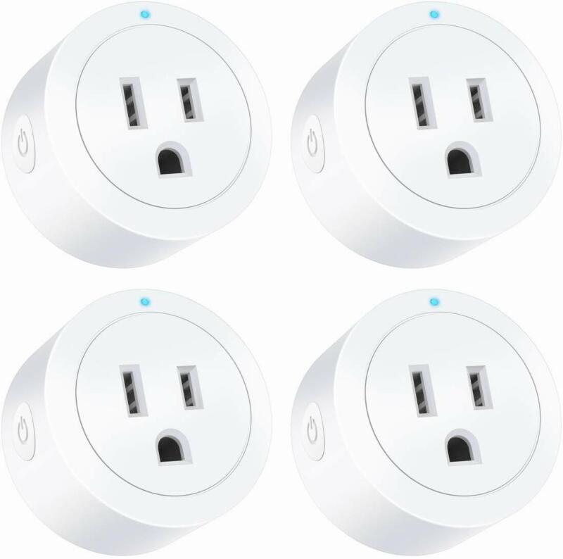 Amysen Smart Wi-Fi Plug(4-Pack), Smart Outlet Mini Socke
