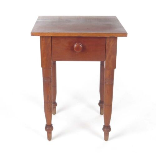 Antique Side Table End One Drawer Work Stand 19th c Wood