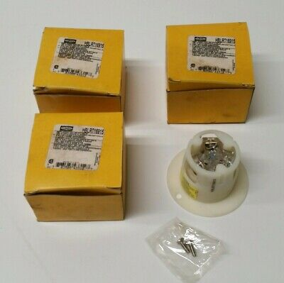 Hubbell Hblrt16915 Flanged Outlet 20amp125v -nema 5-20r - Boxed With Hardware
