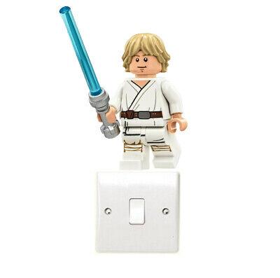 Lego Luke Skywalker Light Switch Art Sticker Darth Vader Yoda Jedi Star Wars