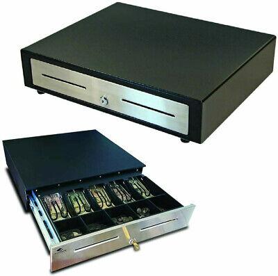 Apg Cash Drawer Model Vbs320-bl1616 Wkeys Excellent Condition