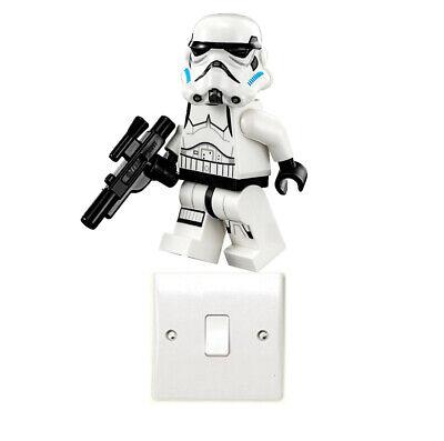 Lego Stormtrooper Light Switch Art Sticker Darth Vader Yoda Jedi Star Wars