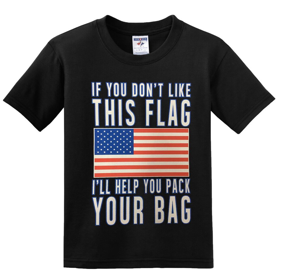 3b7594bea If You Don't Like This Flag I'll Help You Pack USA Trump Deport T-shirts