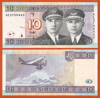 P68  Litauen / Lithunia     10  Litu  2007   UNC