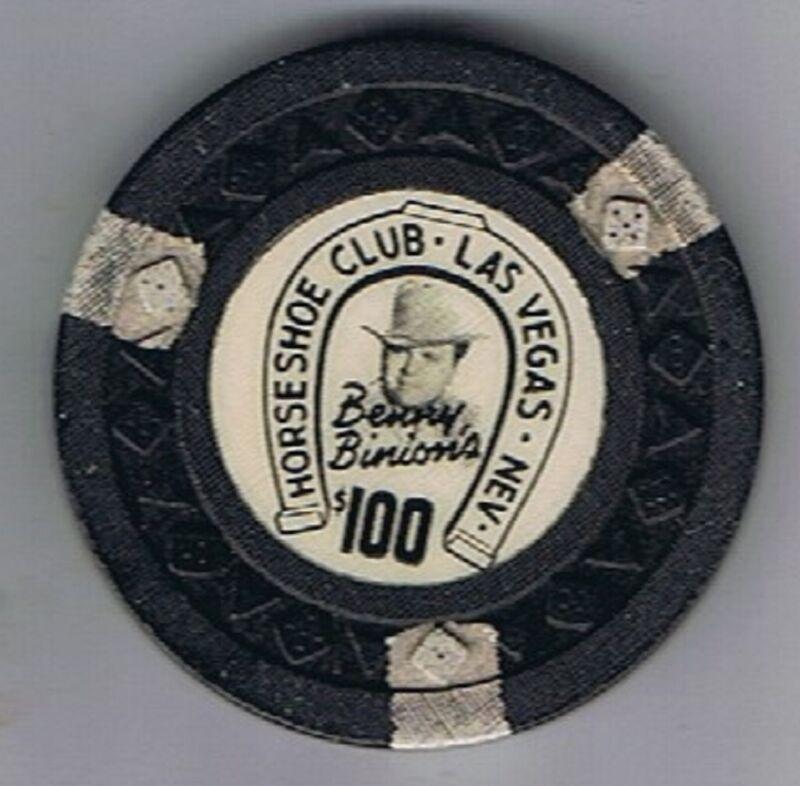 Binions Horseshoe Club $100 Casino Chip Arodie Mold 3rd Edition Las Vegas Nevada