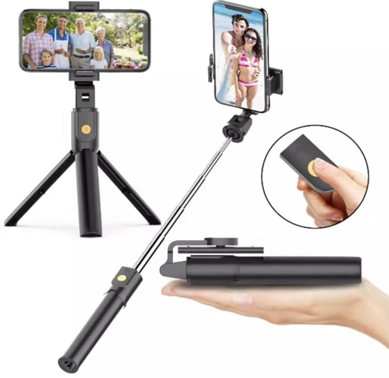 🇺🇸Extendable Selfie Stick Tripod for any cell. Bluetooth Remote. FREE SHIPPING
