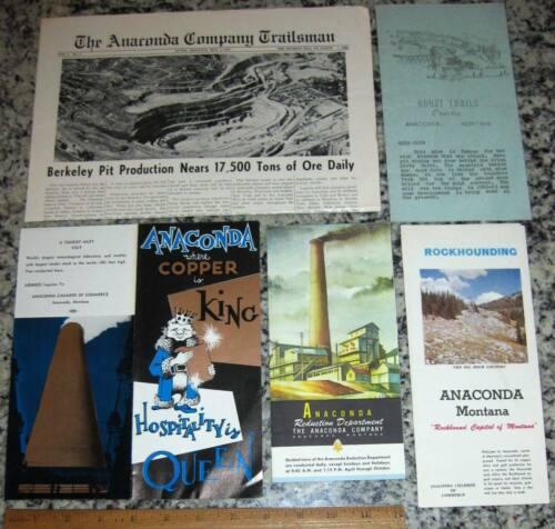 1 Lot of ANACONDA MONTANA Ephemera Rockhounding Ghost Trails to Mines Copper