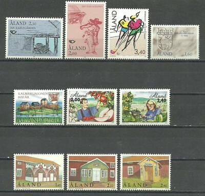 ALAND - Åland Islands stamps from the 1990's - 10 different MNH