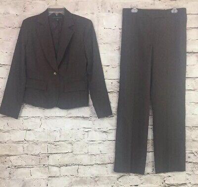 Women's Pant Suit Harve Benard Size 10 Color Brown Polyester Blend