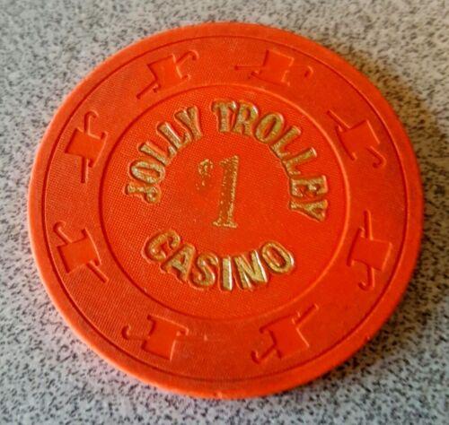 $1 Las Vegas Jolly Trolley Casino Chip - Near Mint