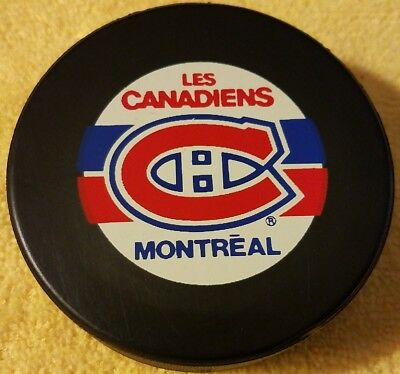 MONTREAL CANADIENS HABS ZIEGLER VINTAGE TRENCH OFFICIAL GAME PUCK CANADA OLD NHL