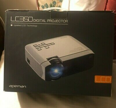 APEMAN LC350 LCD LED Digital Video Projector - White (PERFECT CONDITION)