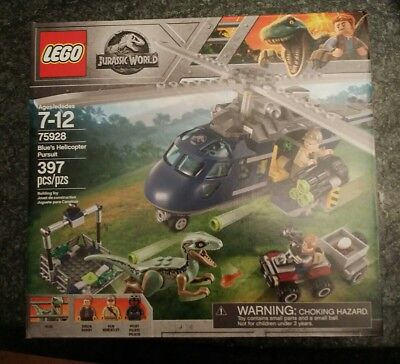 397 Piece LEGO Jurassic World Blue's Helicopter Pursuit 75928 Building Kit