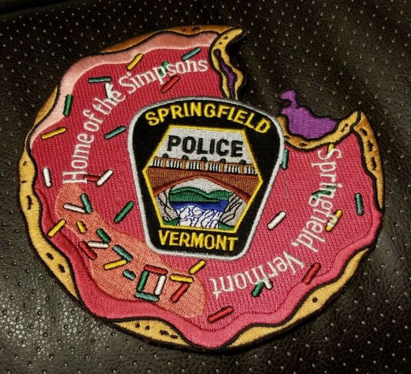 Springfield Vermont Simpsons Movie Police Uniform  Patch COA 244/250
