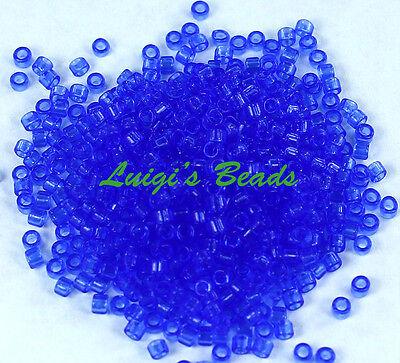 (11/0 TOHO Treasures Japanese Glass Seed Beads #942- Transparent Sapphire 5g)