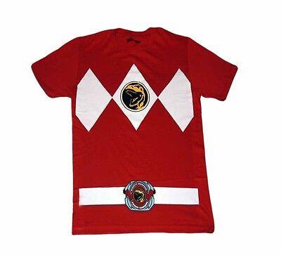 Power Rangers Red Ranger Costume Adult Red Shirt - Adult Power Ranger Costume