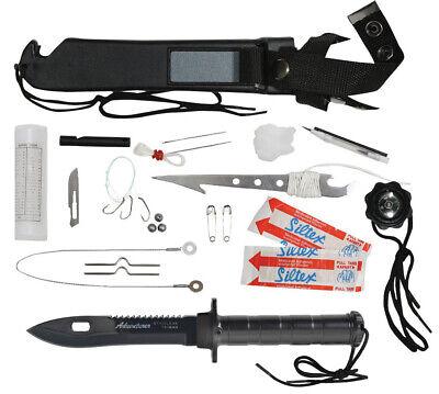 Rothco Adventurer Survival Kit Knife, Black