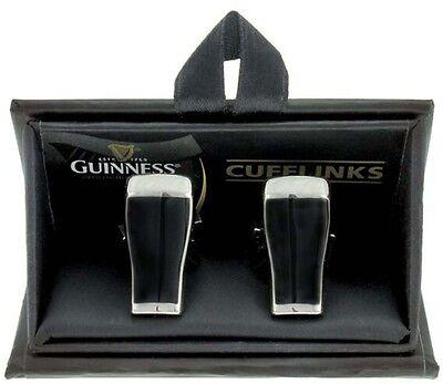 Guinness Pint Brille Metall Manschettenknöpfe (Sg) + Gratis Geschenk
