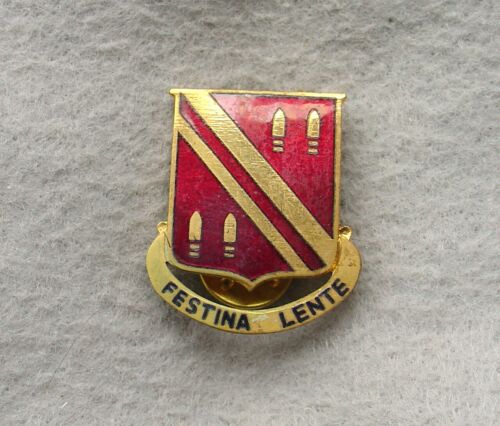 US Army 42nd Field Artillery DI DUI CREST CB No HMk Japanese made (xh10)