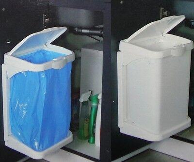 Müllbeutelhalter Doory, anthrazit, Einbauabfallsammler, Küchen Einbau Mülleimer