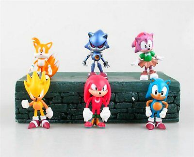Sonic the Hedgehog Figures | 6 Cake Topper Toys | 2.4