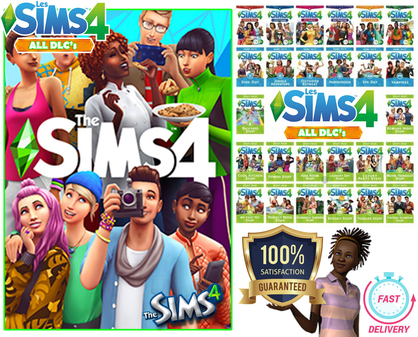 ???? The Sims 4 PC All expansions And ALL DLC Latest version OFFLINE GAME ????