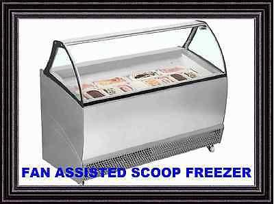 BERMUDA RV10 VENTILATED NAPOLI ICE CREAM SCOOP FREEZER CURVED CANOPY + CUPBOARD