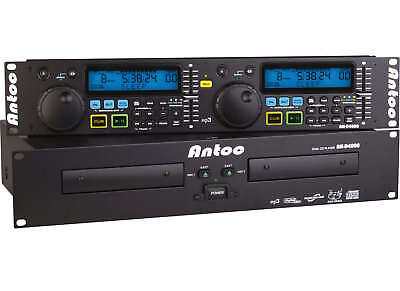 """Antoc AN-D4000 - Doppel-CD-Player 19"""" Doppel CD-Player AN-D 4000 AND-4000 Player"""