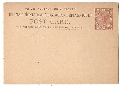 British Honduras Postal Stationery Card 1 1/2 penny QV 1879 HG 1