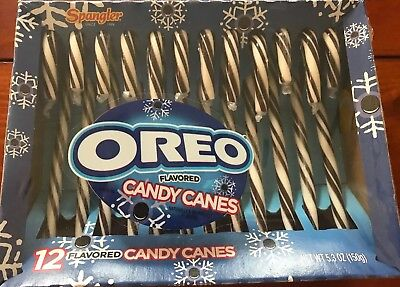 Spangler Oreo Flavored 12 Candy Canes - Cookies and Cream (Single - Flavored Candy Canes