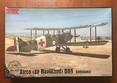 Ambulance de Havilland DH9 - Roden 1/48 scale aircraft kit#Ro436 - sealed/NIB De Havilland Aircraft