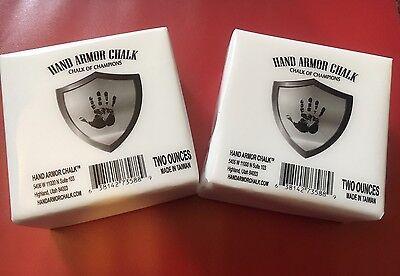 HAND ARMOR GYM CHALK (2) 2 Oz. BLOCKS 100% PURE WEIGHT LIFTING GYMNASTICS NEW!!!