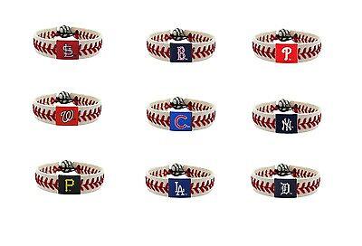 MLB Teams Leather Baseball Seam Bracelet Wristband NEW