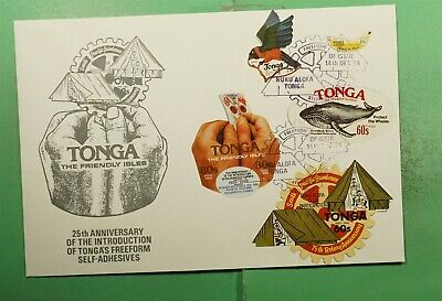DR WHO 1994 TONGA FDC BOY SCOUTS SELF ADHEVISE DIE CUT COMBO CACHET  g15967