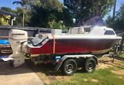 18ft MUSTANG Half Cabin Boat (Fully Reconditioned) Ningi Caboolture Area Preview