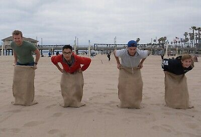 4 24x40 Burlap bag,Potato Sack,Sack Racing,Race,bags,Sandbags,Coffee Bean Sand