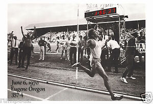 Steve Prefontaine Poster/First Sub 4 Mile Race