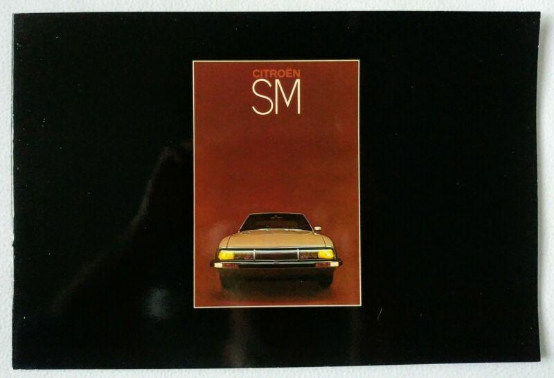 1972 - 75 Citroen SM Original UK Sales Brochure 2.7 V6 EFi - French Connection