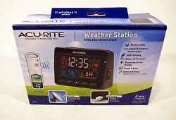 New Opened Acurite 13035 Weather Station With Dual Alarm Atomic Clock 13035W