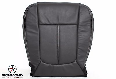 2013 2014 Ford F250 Lariat -Driver Bottom PERFORATED Leather Seat Cover Black