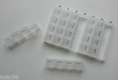 7 Tage Pillendose Tablettendose Medikamentenbox Tablettenbox Tabletten Pillenbox