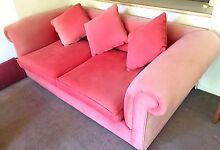 Sofa Bed / Couch - Good Quality, Very Large, Fabric Faded Fitzroy Yarra Area Preview