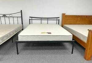 TODAY DELIVERY MODERN black double bed frame (mattress sale) Belmont Belmont Area Preview