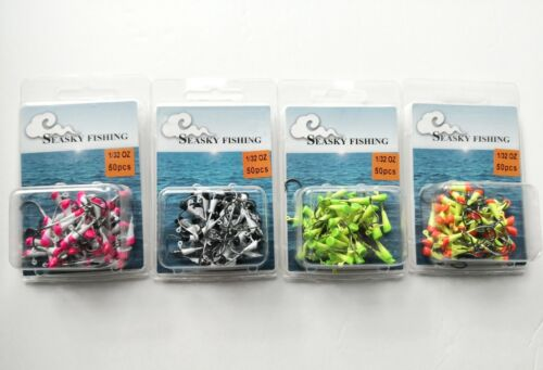 50 NEW Painted Shad Dart Jigheads 1/32 oz Fishing Hooks Lures Bait Tackles #4