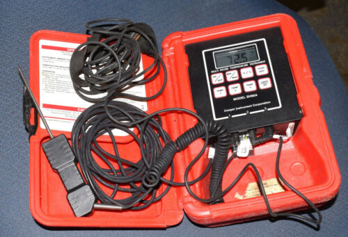 COOPER INSTRUMENTS SH66A 3 PROBE KIT HVAC TEMPERATURE THERMOMETER METER