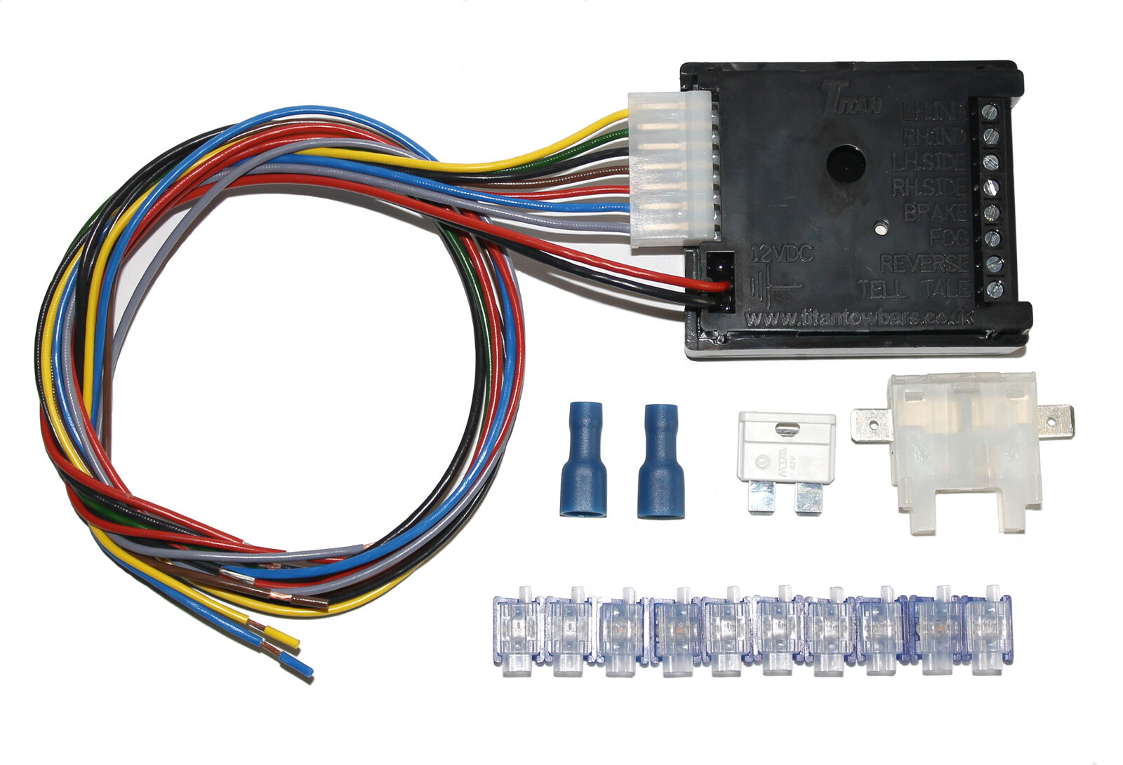 Universal 13 Pin Towing Electrics    Towbar Wiring   7 Way Bypass Relay Kit