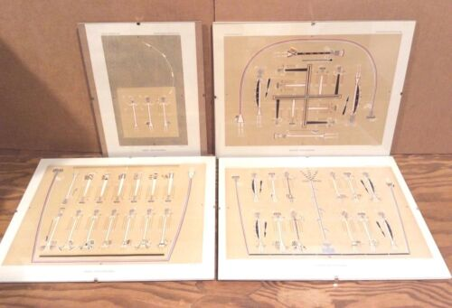 4 Lithographs, Sand Paintings Bureau of Ethnology 8th Annual Report 1886, Navajo